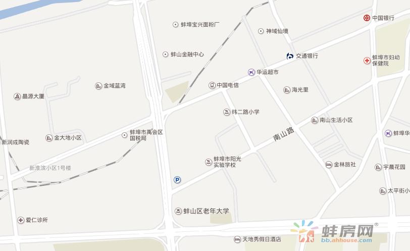天沣望淮府交通图