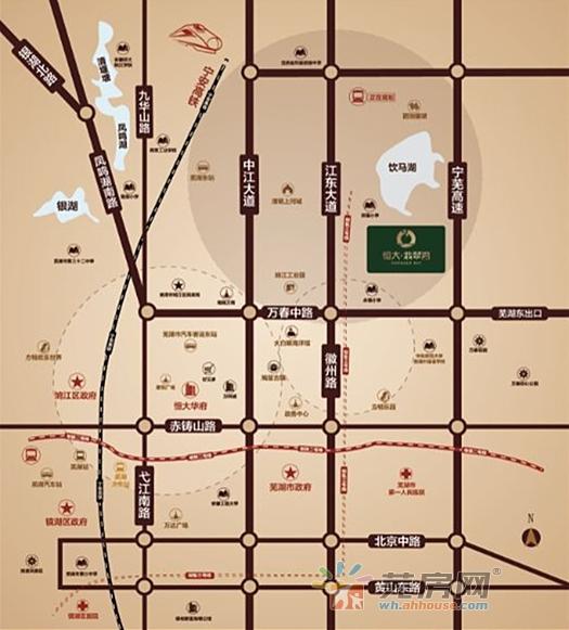 恒大翡翠湾交通图