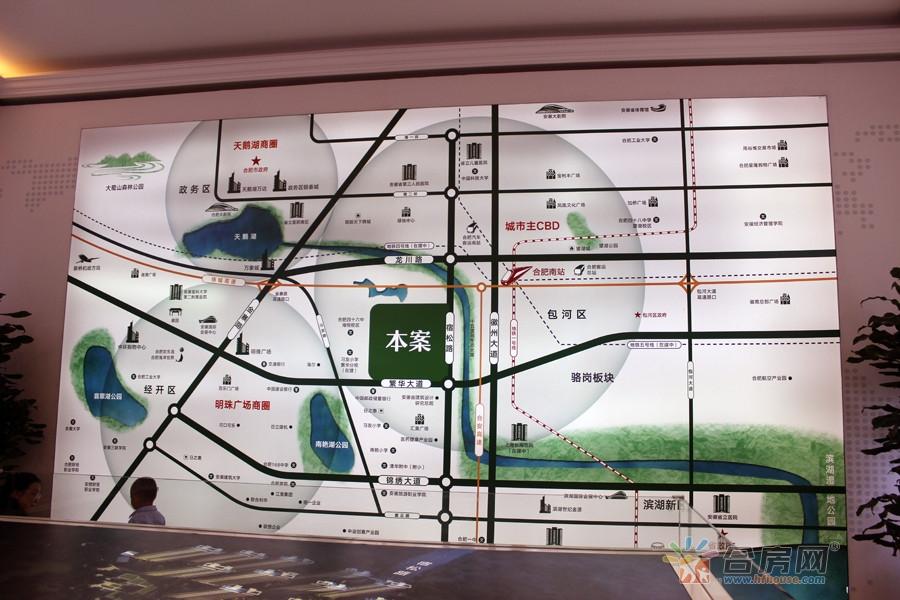 皖投万科·产融中心交通图