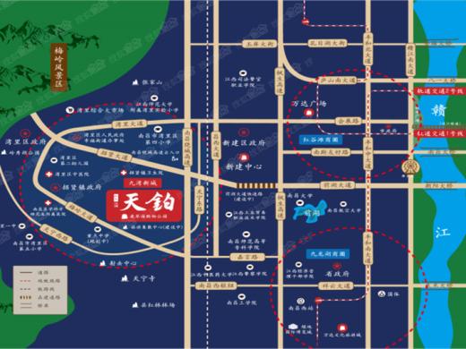 红星九湾天铂交通图
