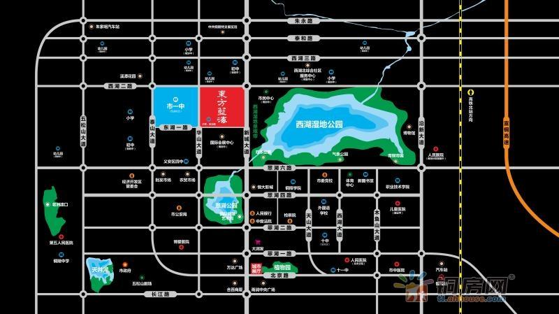 铜陵东方蓝海交通图