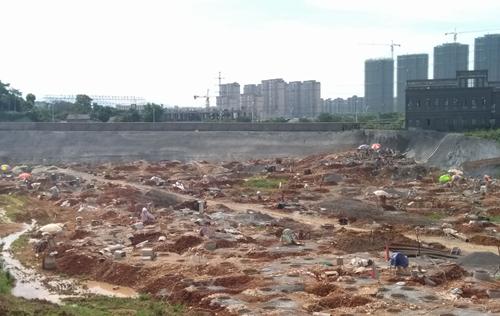 一品江山最新工程进度:地下建设如火如荼