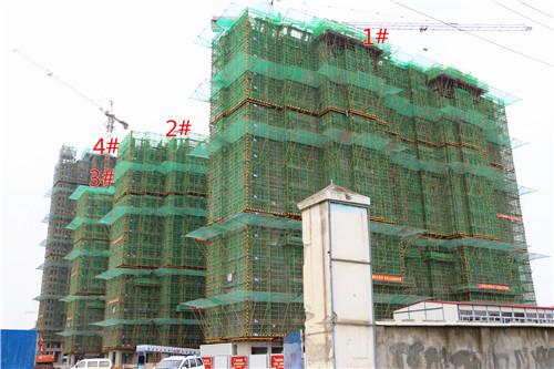 卓瑞北宸龙湖湾6月工程进度:1#楼已建至19层