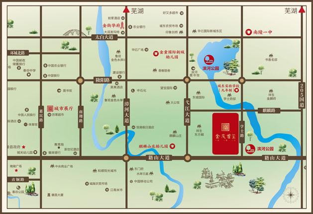 金茂首玺交通图
