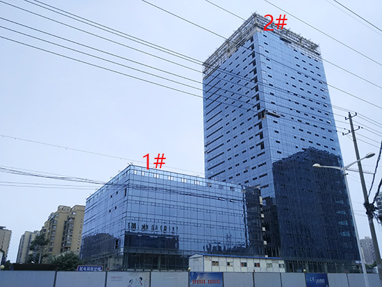 华地金融中心:7月进度 2#3#在安装玻璃幕墙