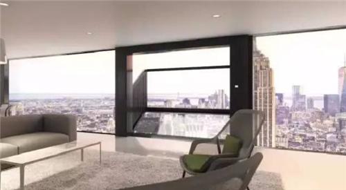 新型落地窗系统 让你同时拥有落地窗与阳台