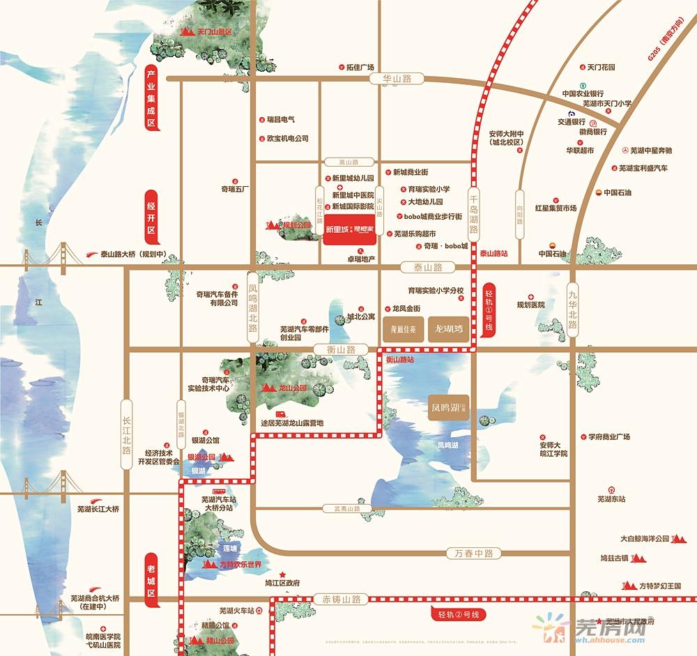 新里城交通图