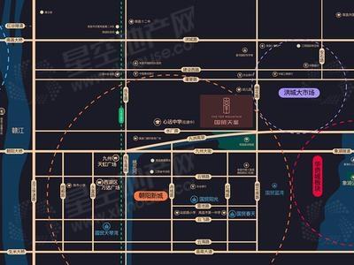国贸天峯交通图