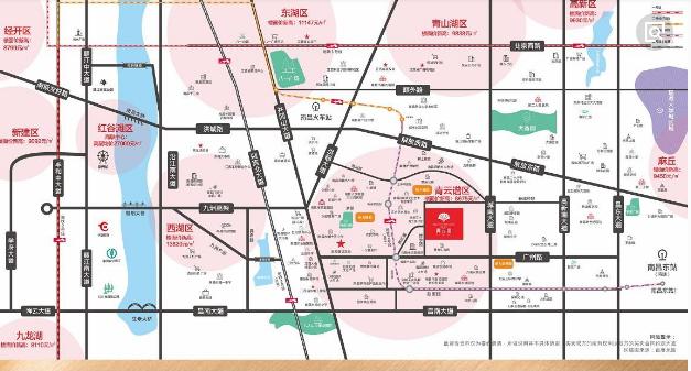 绿都新力青云府交通图