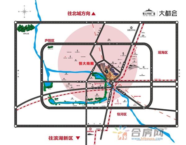 合肥恒大中央广场交通图