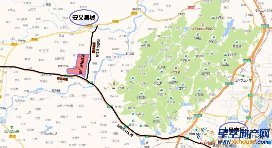 绿地安南小镇交通图