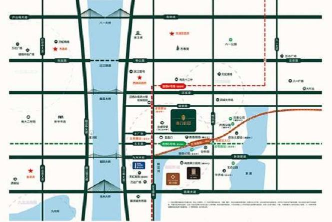 新力榕园交通图
