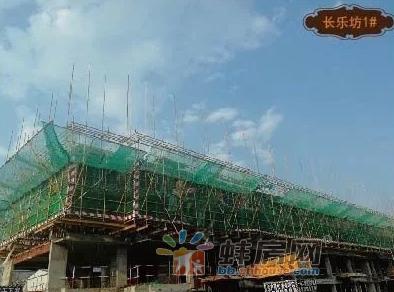 凤阳华地明天公馆工程进展:6#已建至第三层