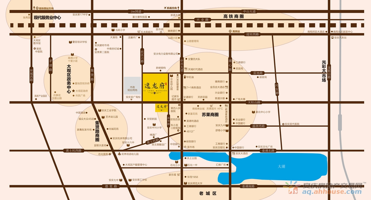 逸龙府交通图