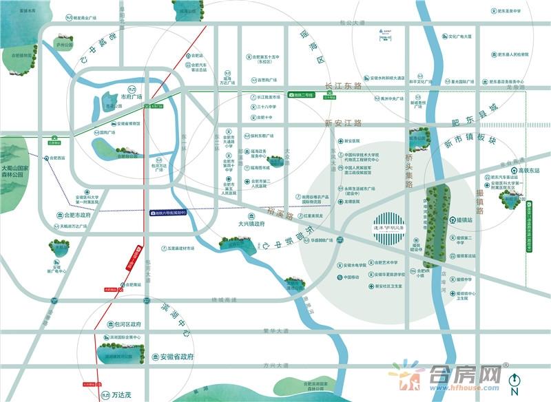 远洋庐玥风景交通图
