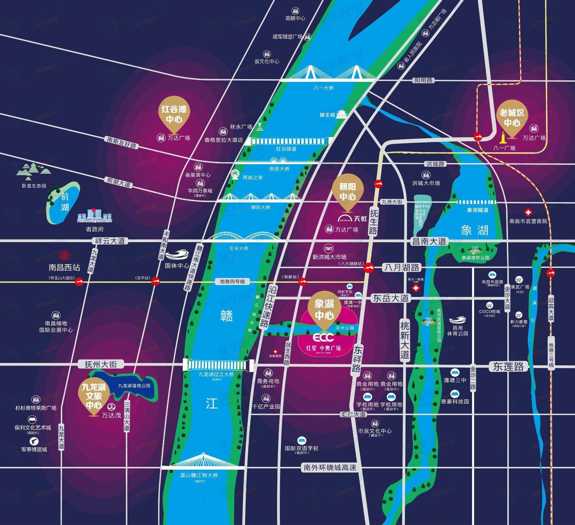 红星中奥广场交通图