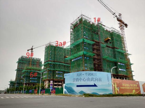 禹洲平湖秋月:9月现场直击 建设进度较快