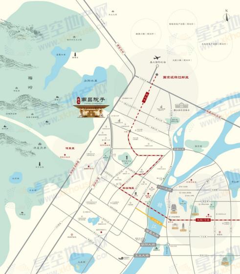 泰禾南昌院子交通图