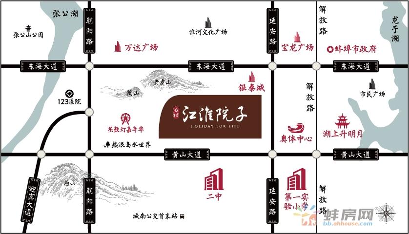 石榴江淮院子交通图