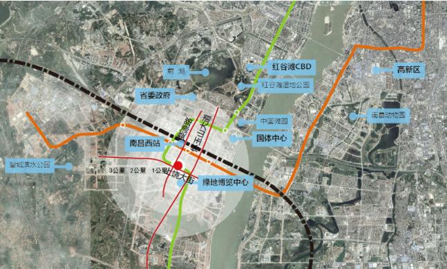 恒锦·玖珑时代广场交通图