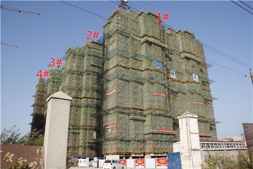 龙湖湾10月工程进度:2#楼已完成结构封顶