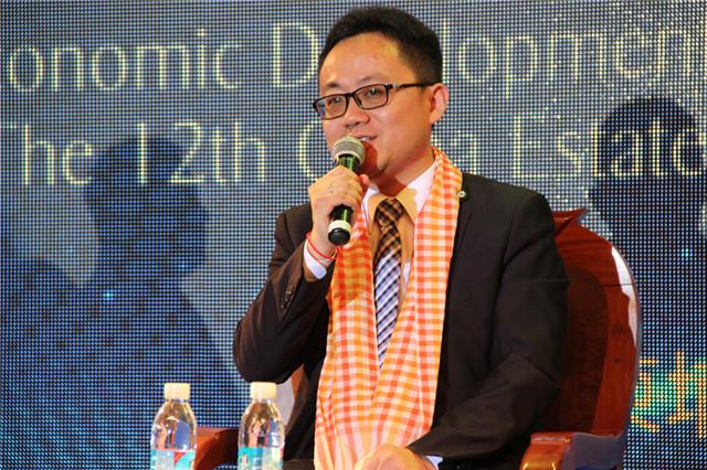 柬埔寨合肥之友联谊会秘书长  许江涛发言