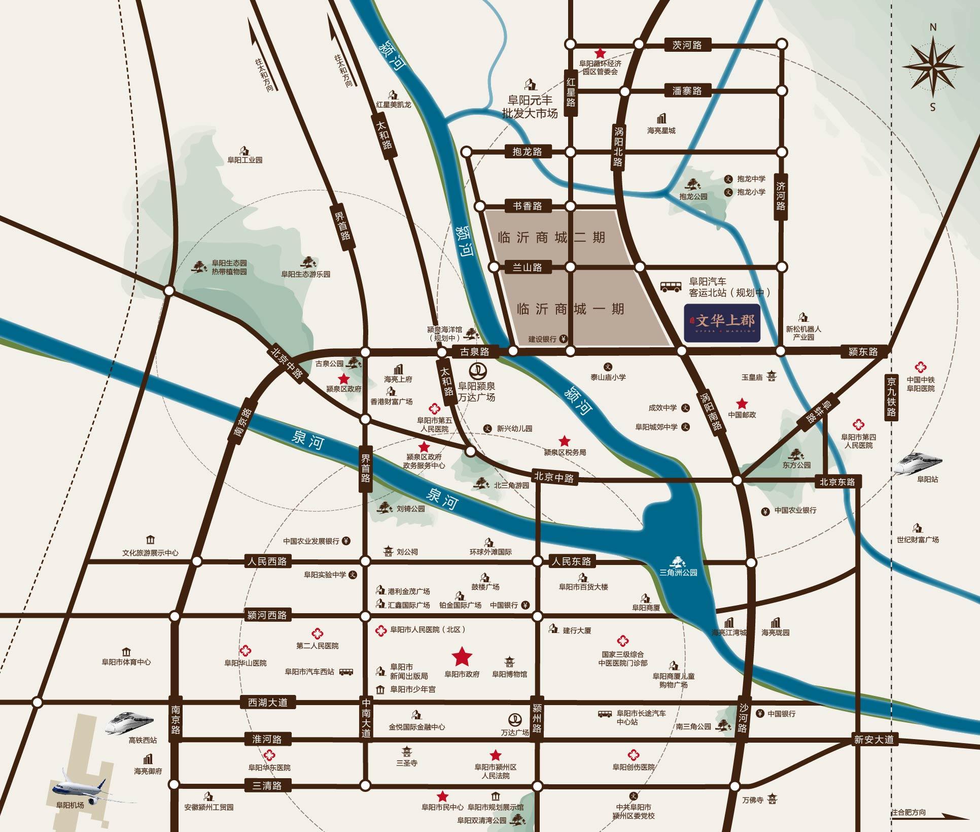 文华上郡交通图