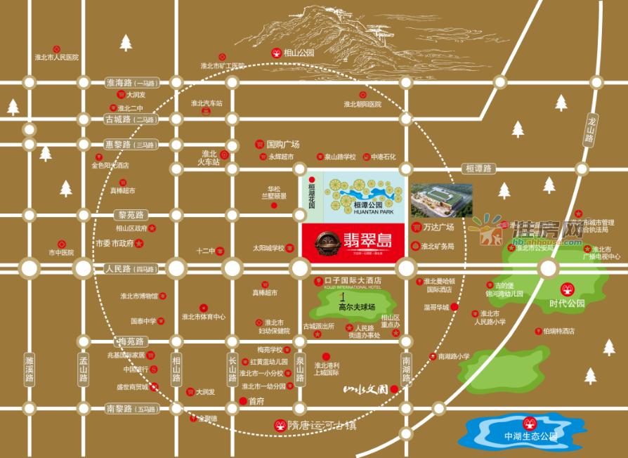 翡翠岛交通图
