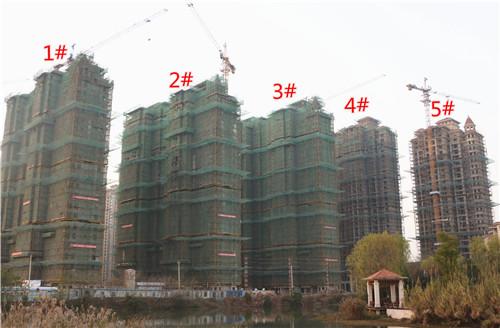 龙湖湾12月工程进度:5#楼正在进行外墙粉刷