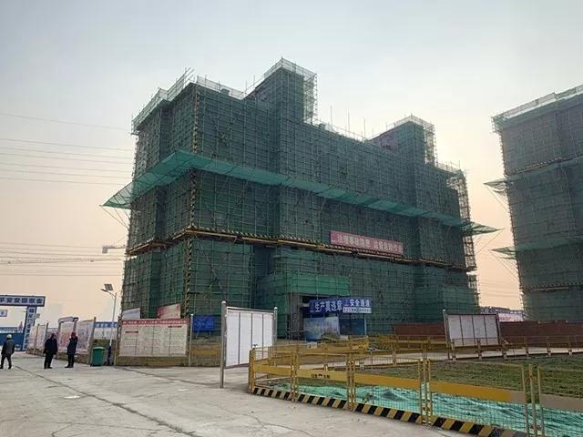 蚌埠和顺静天府1月工程进度 21-22#楼已封顶