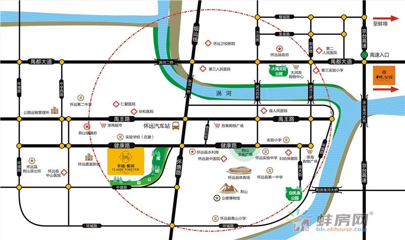 华地紫园交通图