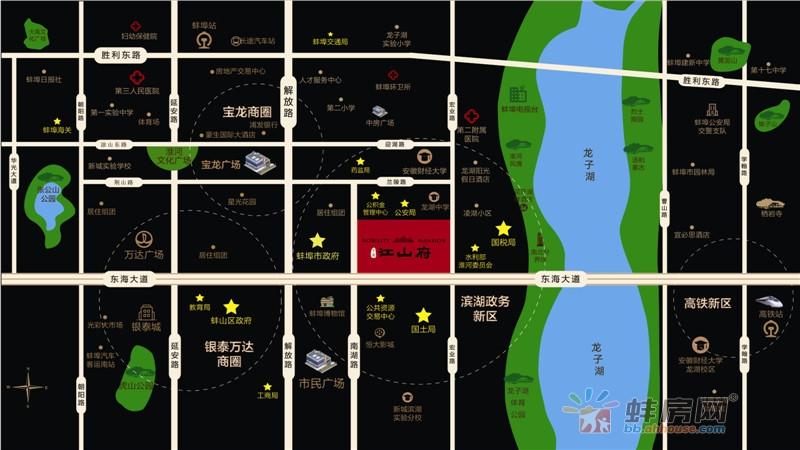中南江山府交通图
