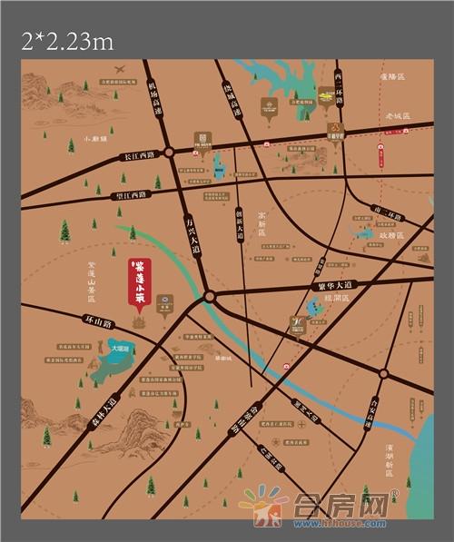 幸福·紫蓬小筑交通图