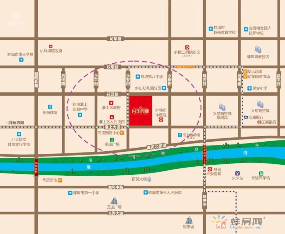 兴华府邸交通图