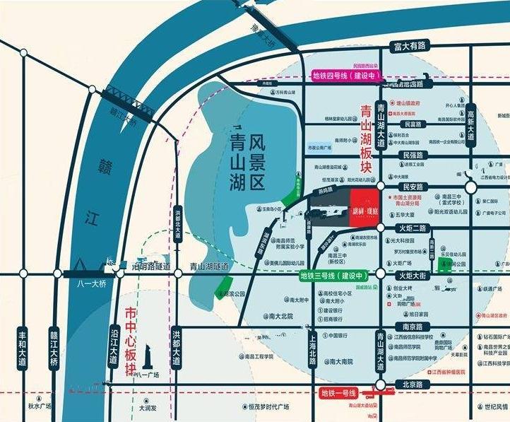 新利珑庭交通图