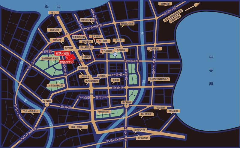 君悦玺园交通图