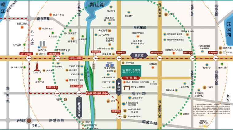 新力弘阳府交通图