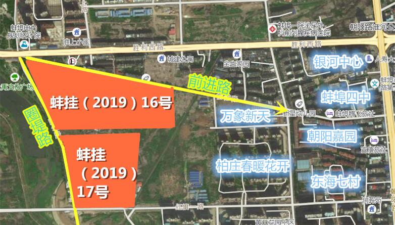 """4月蚌埠再次上演""""推地潮"""" 619亩居住地即将开拍"""