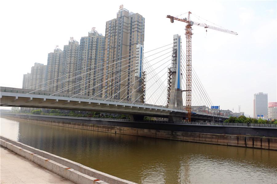 实拍!中江桥建设工程进入收尾阶段,力争8月竣工!