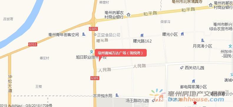 亳州谯城万达广场(珑悦湾)交通图