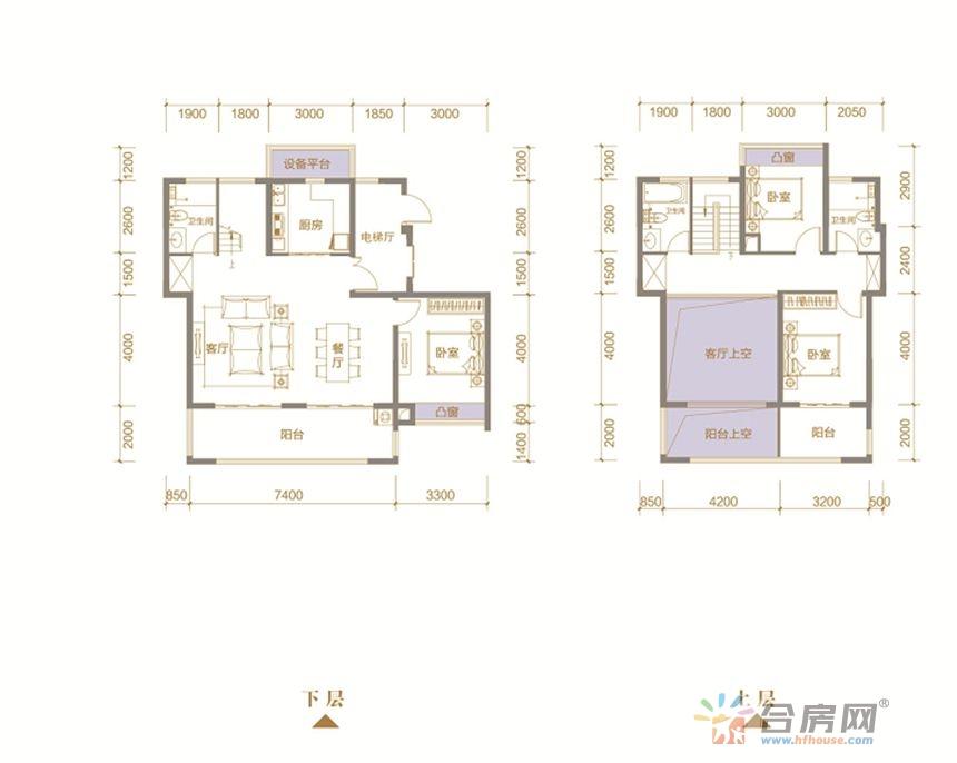 大户型房,满足改善需求,双卧朝南,更大程度除潮祛湿。