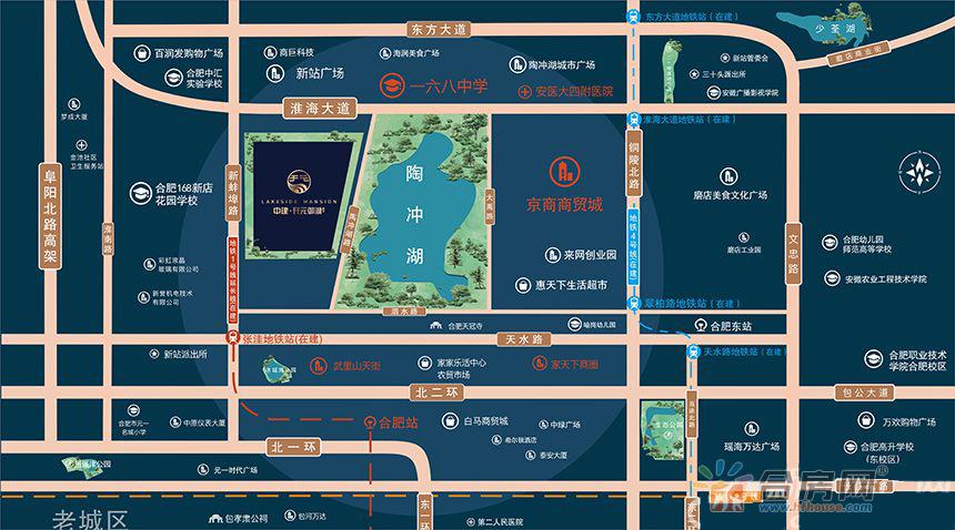 中建·开元御湖公馆交通图