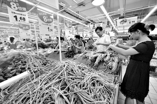 安徽省生活必需品价格涨势一片 蔬菜价格上涨迅速