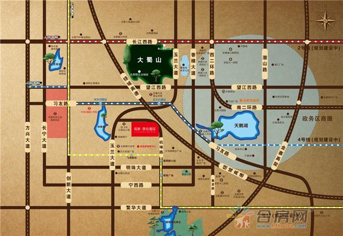 皖新·朗诗麓院交通图