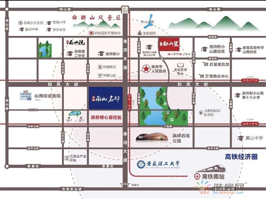中铁·南山名邸交通图