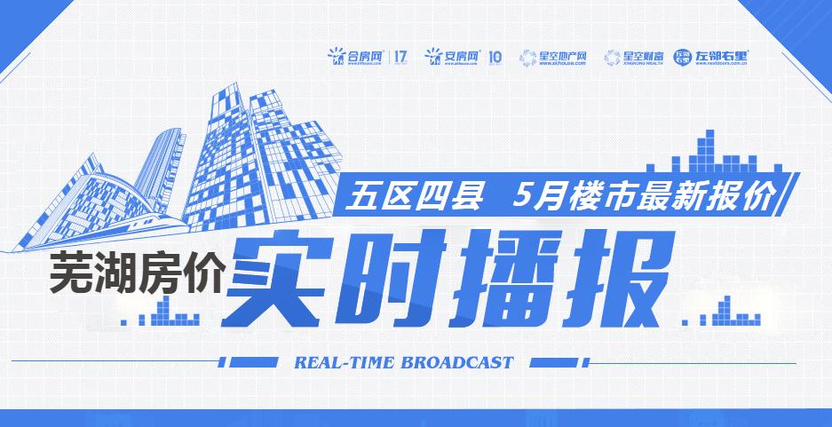 2019年5月芜湖热门楼盘最新房价播报