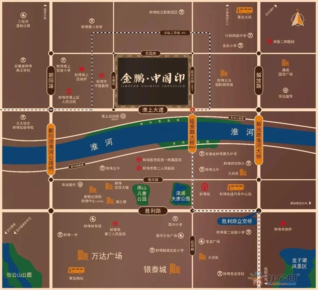 蚌埠金鹏中国印区位示意图