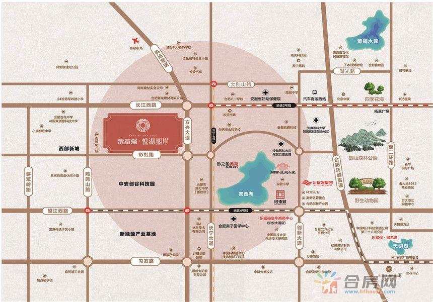 乐富强·悦湖熙岸交通图