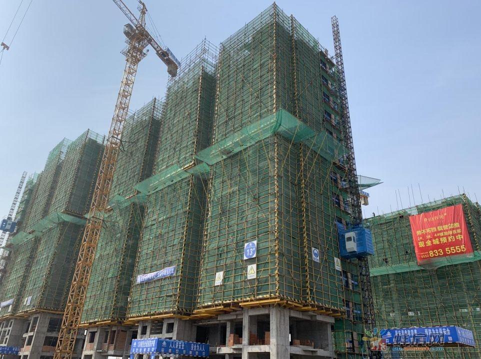 蚌埠海创燕山书苑6月工程进度