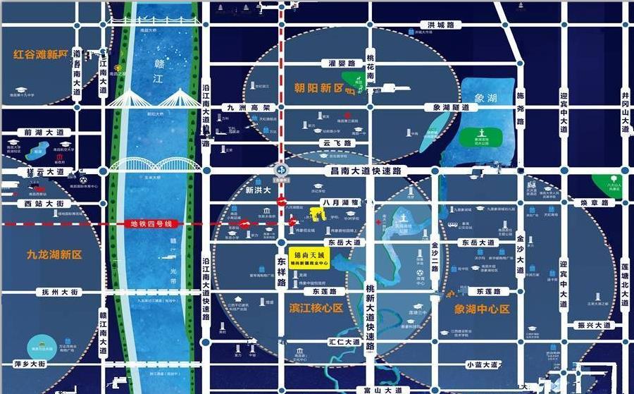 锦尚天域交通图